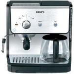 Krups Coffee Espresso Maker | Stainless Steel Combination 10 Cup XP2010