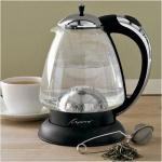 Capresso H2O Plus Kettle | Electric Chrome Glass Water 259.03