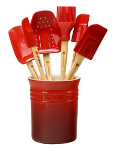 Le Creuset 7 Piece Red Spatula Set w/