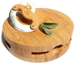 Pinzon Round Bamboo Chopping Block Set