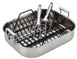 All-Clad Stainless Roti Combo Set | Roasting Pan w/ Rack and Turkey Forks