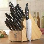 Henckels 19 Piece Knife Block Set | Stamped Stainless Steel Kitchen Cutlery, Twin Signature