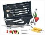 Chefmaster Barbecue Tool Set   BBQ Grill Stainless Steel 18 Piece