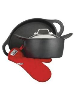 All Clad Dutch Oven Set w/ Oven Mitts