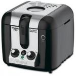 Waring Pro Cool Touch Deep Fryer | Black Stainless Electric w/ Timer