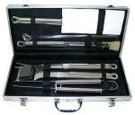 Rafael Barbeque Tool Set   Stainless Steel Case 12 Piece