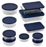 Pyrex Storage Plus Glass Container Set of 20 Review | Nested w/ Blue BPA Free Lids